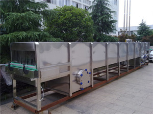 Spray cooling sterilization tunnel